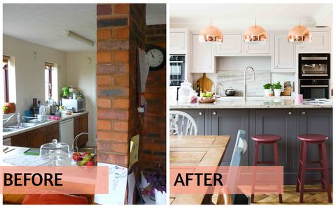 Removal Of Pillar And Wall Transforms Space, Remove Wall Between Kitchen And Dining Room Before After