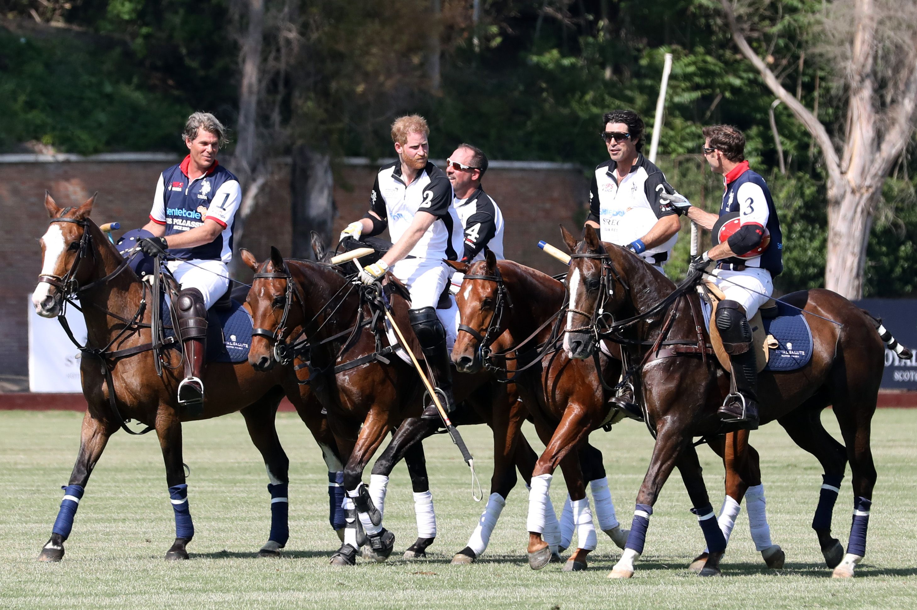 The Duke Of Sussex Attends 2019 Sentebale ISPS Handa Polo Cup In Rome