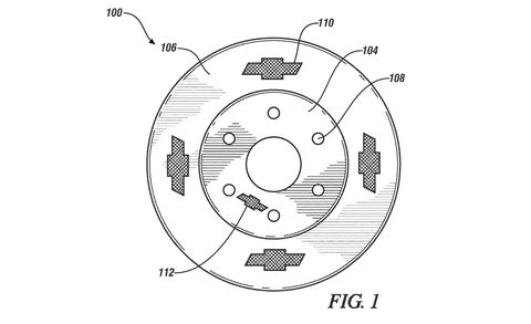 Chevy Patents a Brake Rotor with Chevrolet Bow Ties All over It