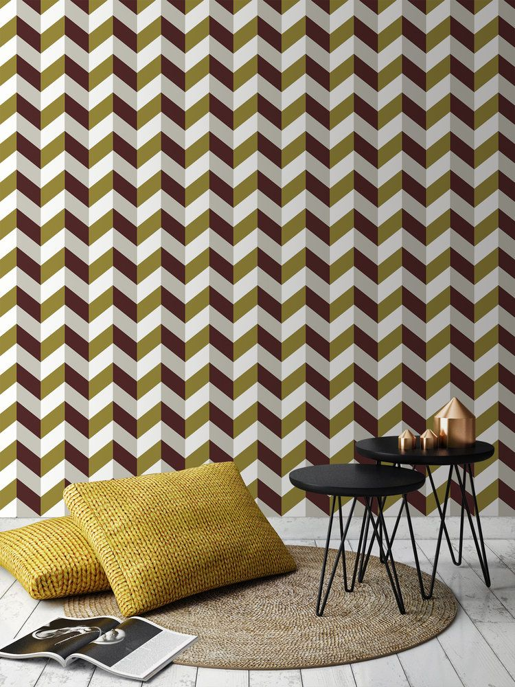Decorating With Pattern. Chevron Wallpaper For Every Room In Your Home