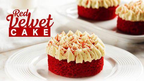 Food, Buttercream, Dessert, Red velvet cake, Cuisine, Dish, Baked goods, Cupcake, Ingredient, Cake,