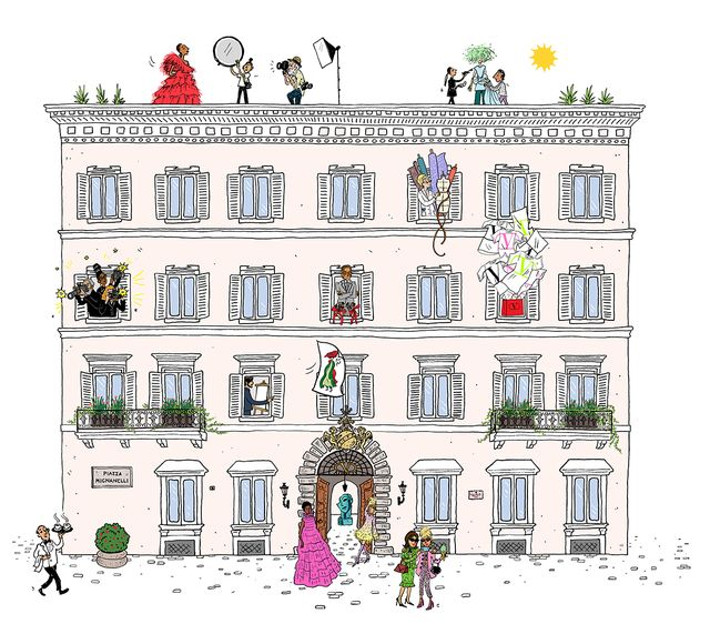 progetto digitale valentino chez maison palazzo mignanelli