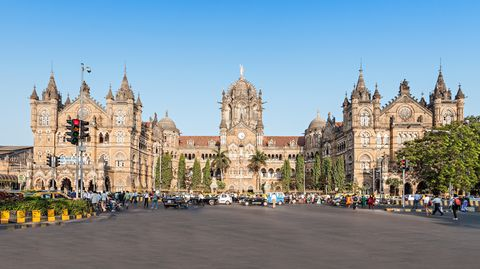 chhatrapati shivaji terminus cst is a unesco world heritage site and an historic railway station in mumbai, india