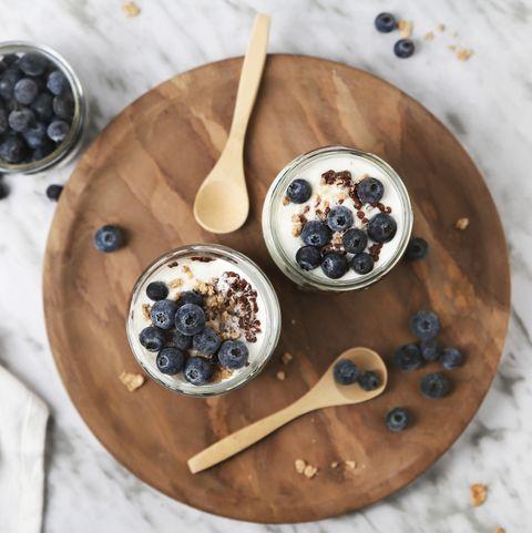 yogur griego con arándanos