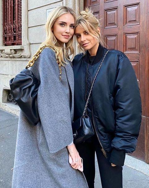 Chiara Ferragni borsa moda 2020 Bottega Veneta