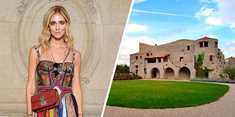 El castillo en el que veranea Chiara Ferragni