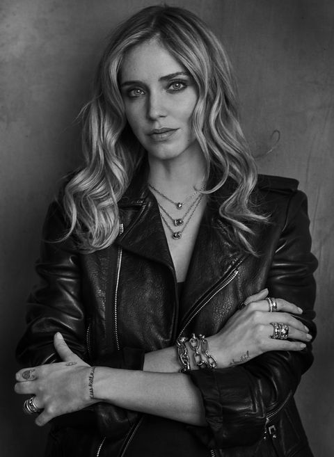 Hair, Leather, Beauty, Leather jacket, Jacket, Model, Hairstyle, Long hair, Photo shoot, Black-and-white,