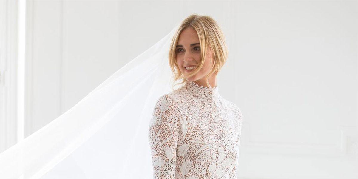 se ha inspirado chiara ferragni en el vestido de novia de olivia