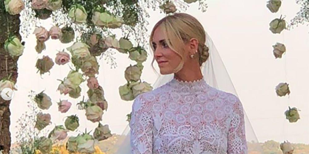 1251df04f1 Chiara Ferragni e il vestito da sposa Dior, è da principessa