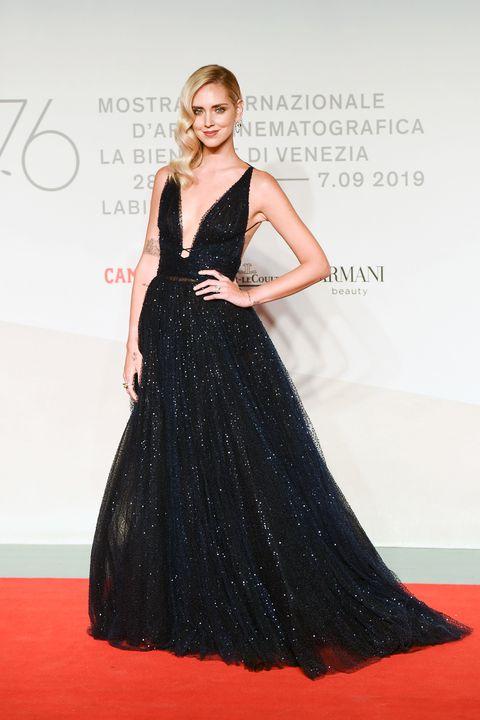 """""""Chiara Ferragni - Unposted"""" Red Carpet Arrivals - The 76th Venice Film Festival"""