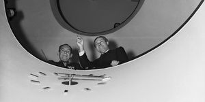 Walter Gropius and Moholy-Nagy on Circular Stairs