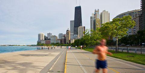 chicago running map