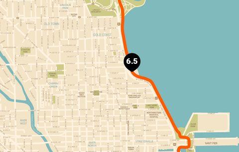 Chicago Running Map | Runner's World on