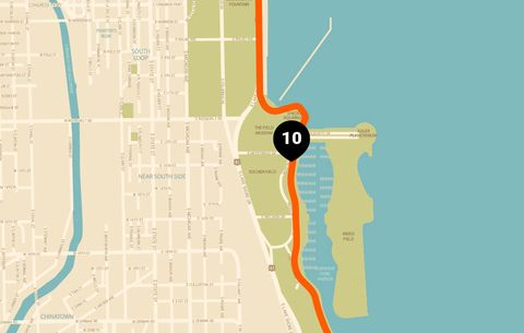 best sneakers 0943c 81703 chicago running map