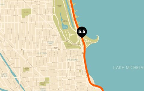Chicago Running Map   Runner's World on