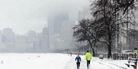 Saturday morning run along Chicago's lakefront