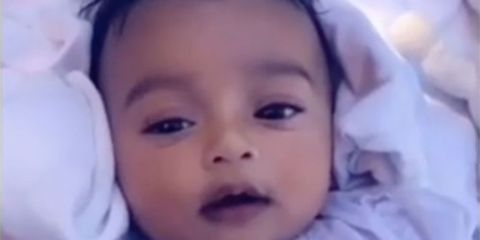 Kim Kardashian just shared a precious video of baby Chicago West