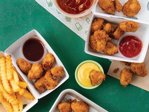 Dish, Food, Cuisine, Fried food, Ingredient, Fast food, Pakora, Chicken nugget, appetizer, Produce,