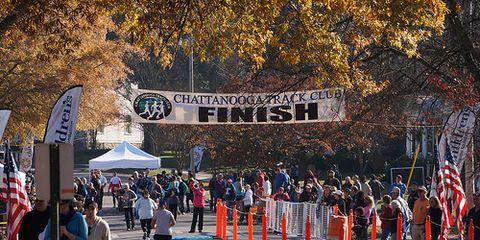 Chickamauga Battlefield Marathon Finish Line, 2012