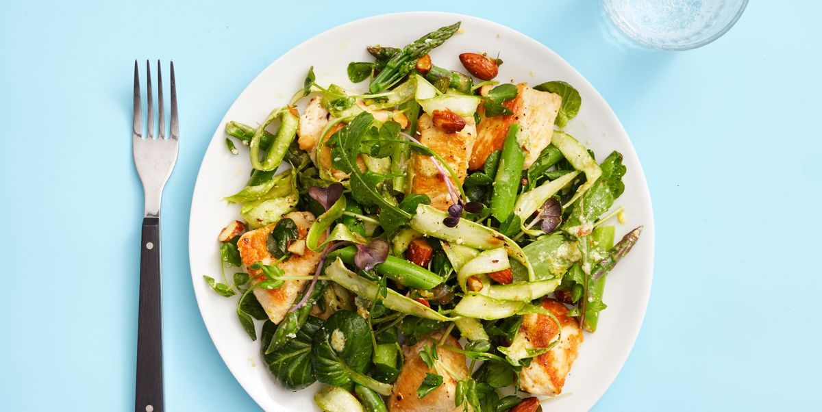 Chicken and Asparagus Salad With Meyer Lemon Vinaigrette