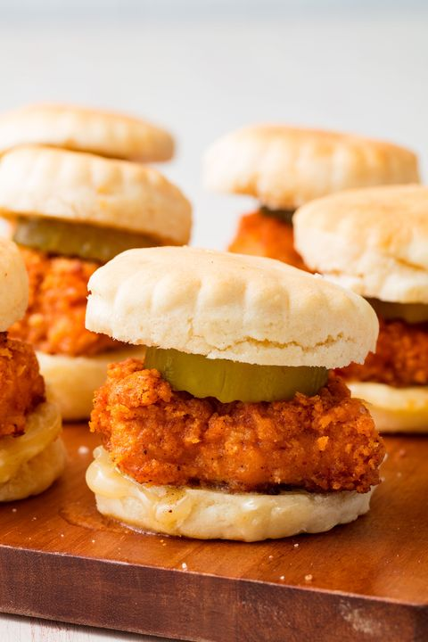Chicken N Biscuit Sliders - Delish.com