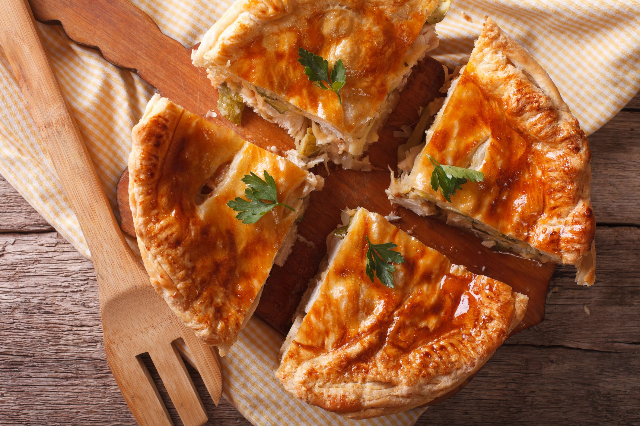 Chicken and ham Christmas pie