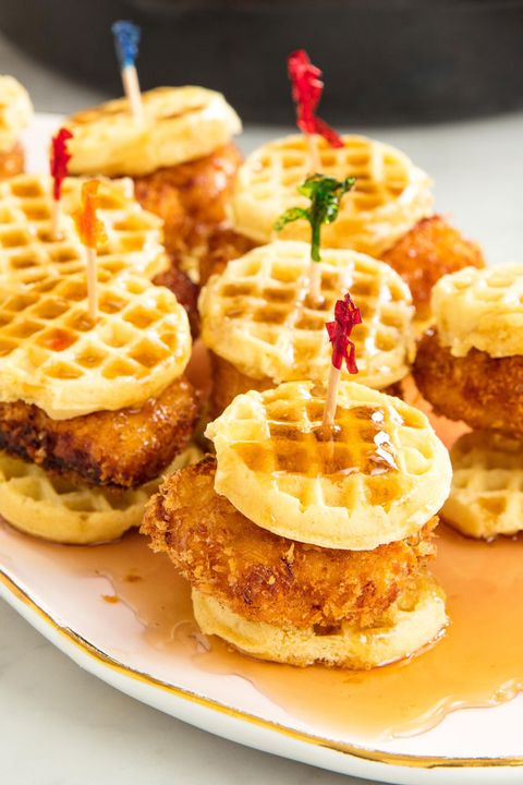 Chicken And Waffles Sliders - Delish.com