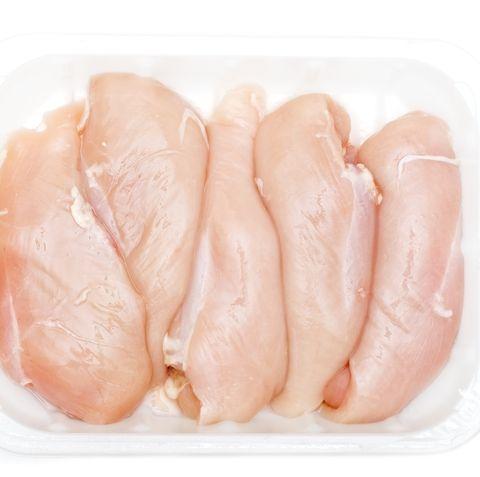 Chicken breasts against white background ( series)