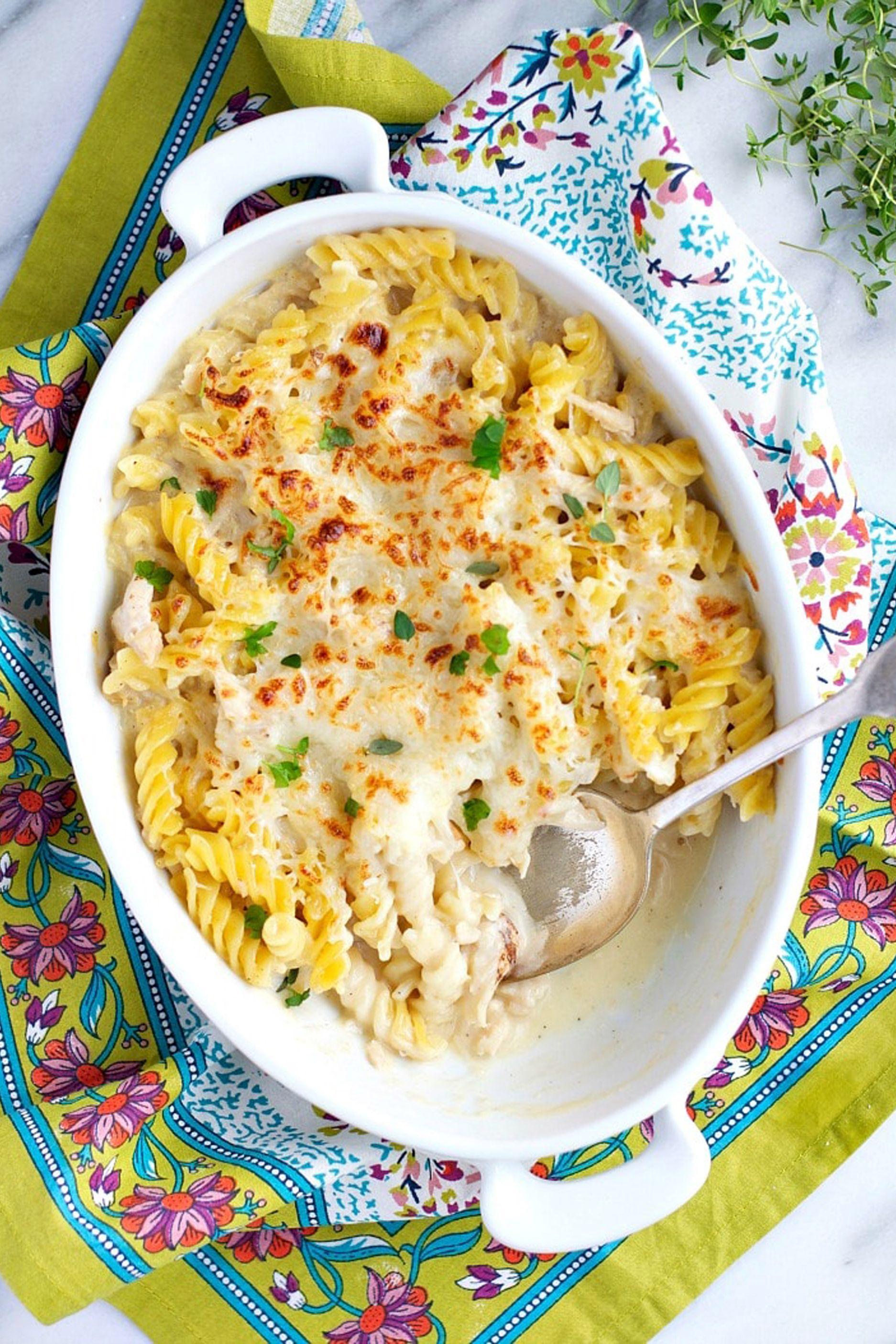 chicken casserole recipes alfredo