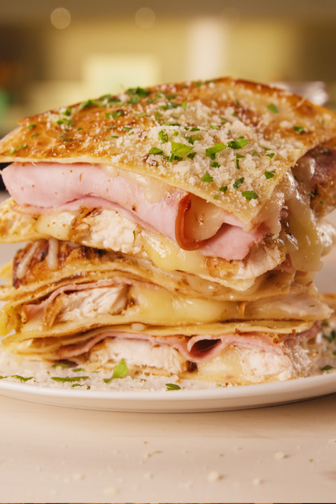 Chicken Cordon Bleu Quesadillas vertical