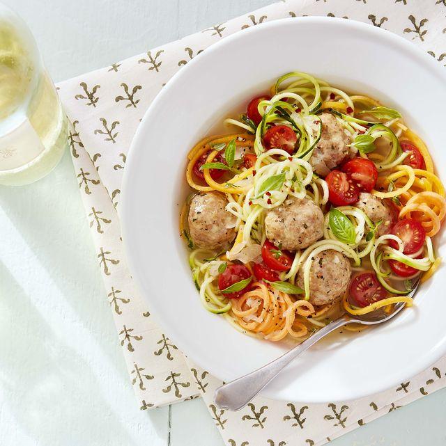 chicken meatball veggie noodle soup