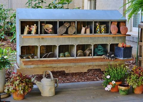 chicken nesting boxes shoe holder