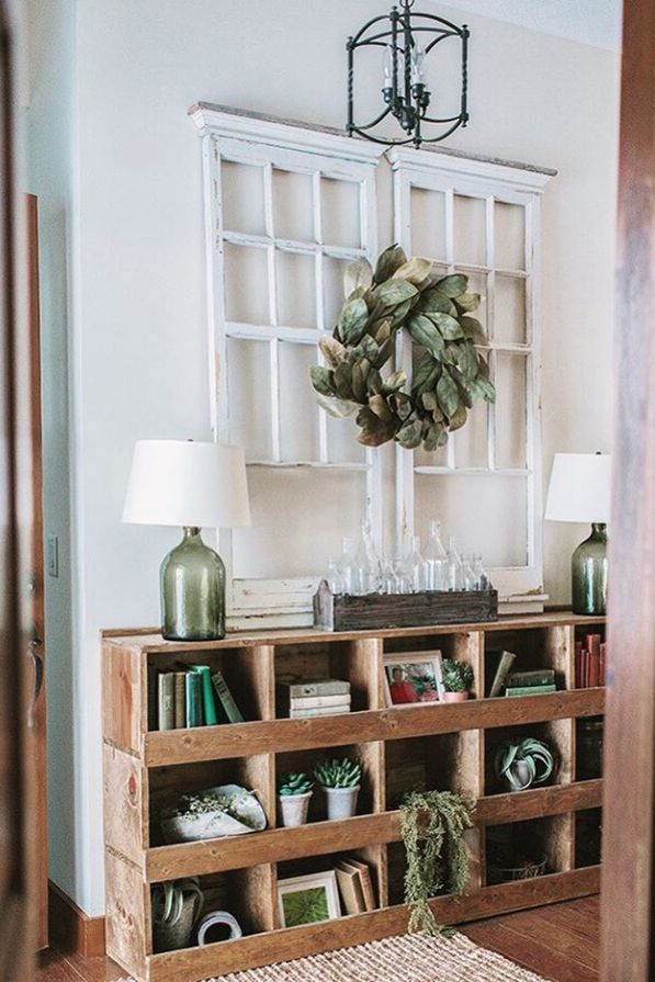 chicken nesting boxes hallway table storage