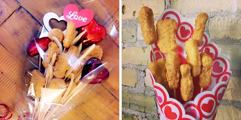 People Are Making Chicken Nugget Bouquets for Valentine's Day, So Love Is Alive and Well