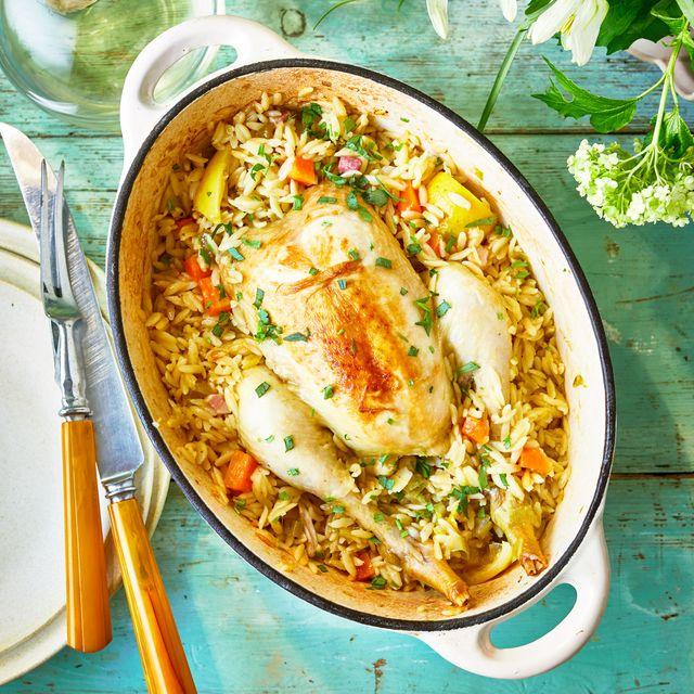 best chicken pasta recipes roast chicken with orzo