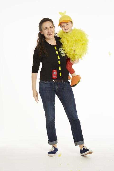 sesame street  big bird costume chicken road