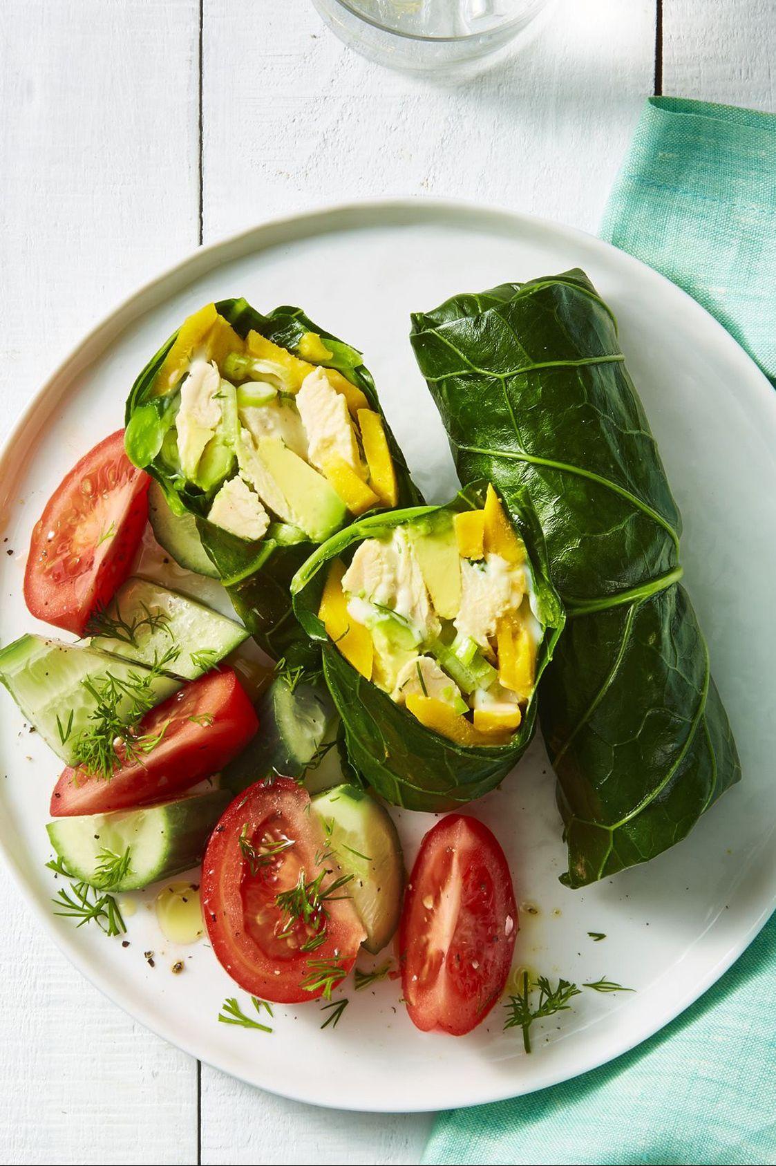 chicken salad collard wrap