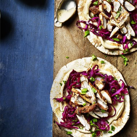 chicken shawarma flatbreads