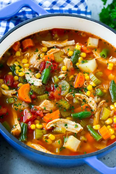chicken soup vegetable