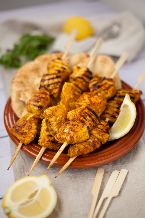 Chicken tikka skewers recipe