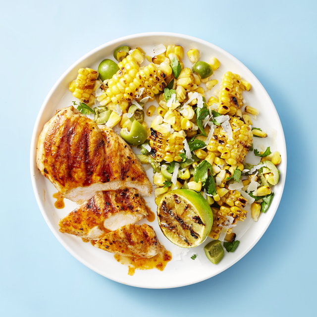 grilled chicken with smoky corn salad recipe