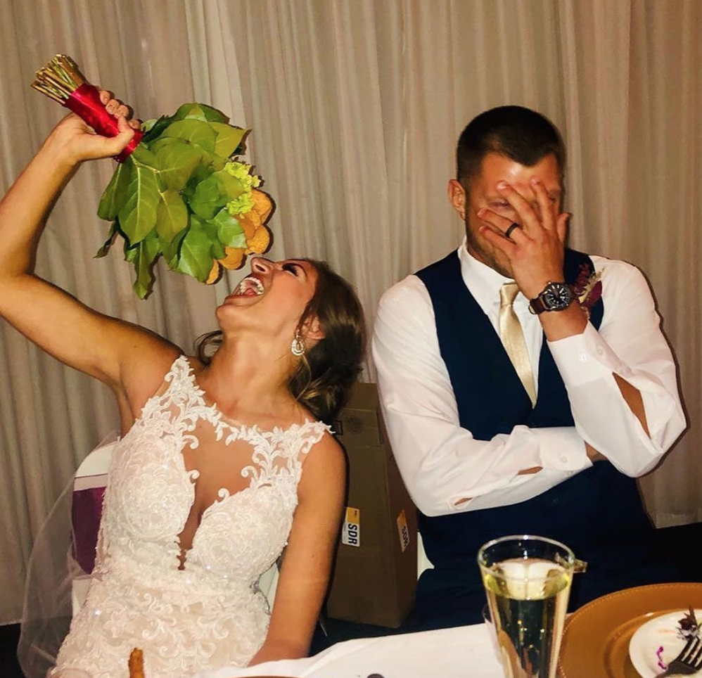 This Bride Was Surprised With A Chicken Nugget Bouquet On Her Big Day