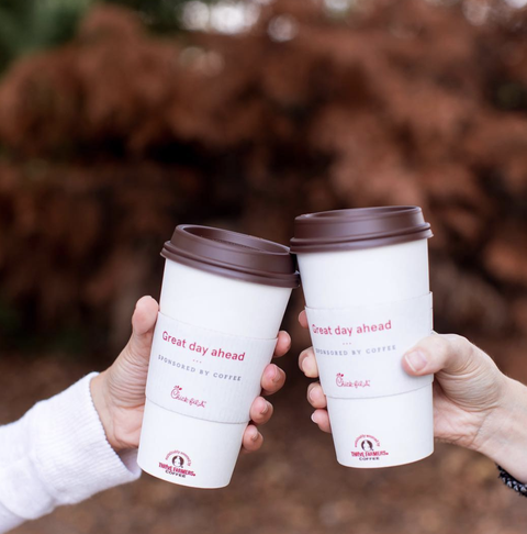 Product, Cup, Pink, Cup, Coffee cup, Hand, Tumbler, Drinkware, Font, Coffee cup sleeve,