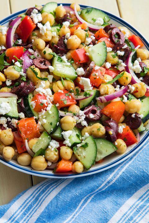 Chickpea Mediterranean Salad vertical