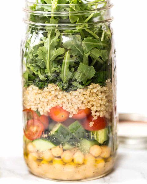 chickpea quinoamason jar salad