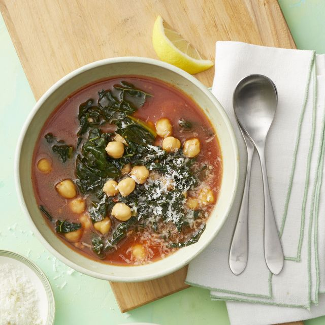 Chickpea Recipes - Chickpea and Kale Soup