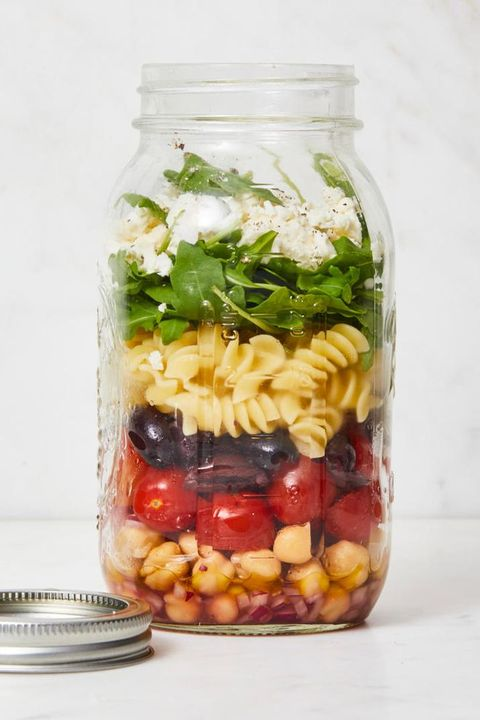 Chickpea Recipes - Chickpea Pasta Salad in a Jar