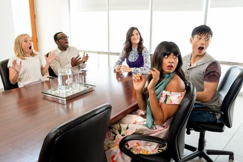 5a1f3684a42 10 'The Good Place' Halloween Costumes - Janet, Eleanor, and Tahani ...