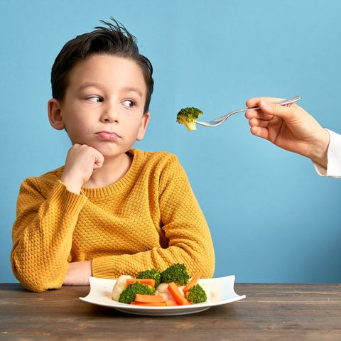 child is very unhappy with having to eat vegetables