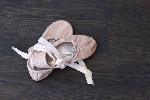 child's ballet slippers